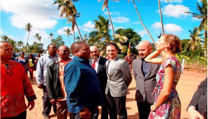 Pres. Mozambico visita